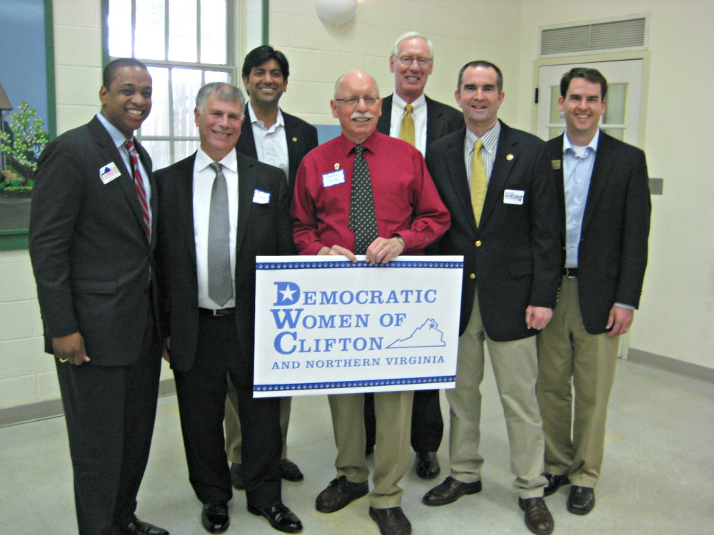 Left to Right: Justin Fairfax, Ed Deitsch, Aneesh Chopra, Jerry Foltz, Reed Heddleston, Ralph Northam, Jeremy McPike